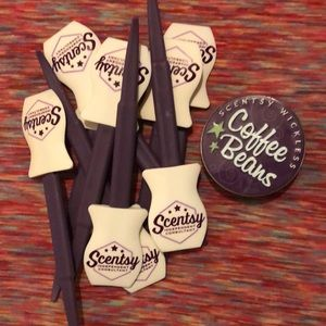 10 scentsy beans & coffee bean can